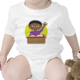 Little Boy at School Black Tshirt