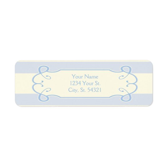 Little Boy Blue Baby Shower, Address Labels
