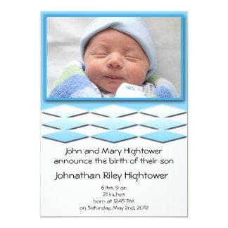Little Boy Blue Birth Announcement