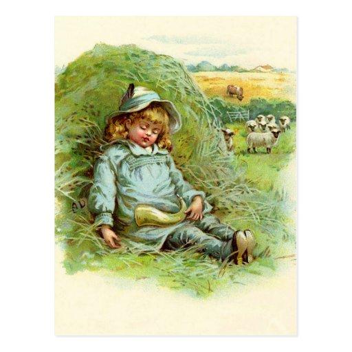 Little Boy Blue Nursery Rhyme Post Cards