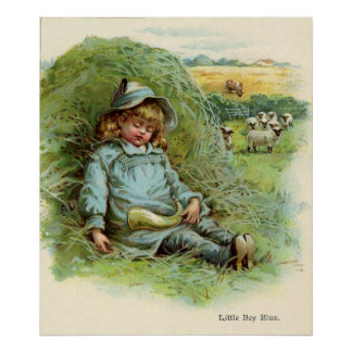 Little Boy Blue Nursery Rhyme Poster