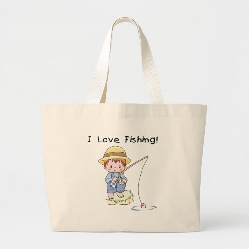Little Boy I Love Fishing Bag
