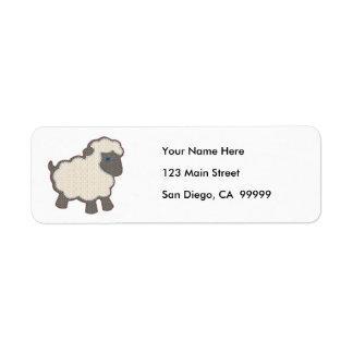 Little Boy Lamb Applique Address Label