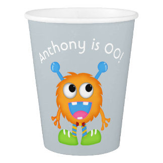 Little Boy Monster themed Party personalized Paper Cup