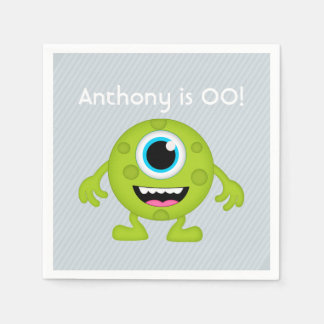 Little Boy Monster themed Party personalized Paper Napkin