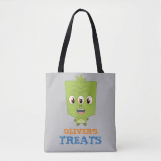 Little Boy Monster Trick or Treat Candy Bag Tote Bag