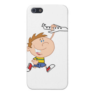 Little Boy Playing With Airplane Toy iPhone 5 Cases