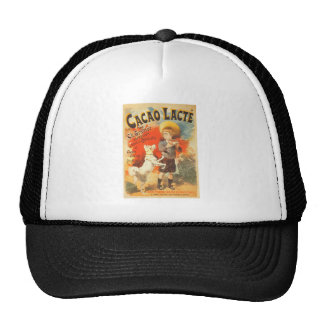 Little boy puppy vintage French illustration Cap