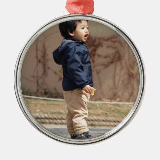 Little boy Silver-Colored round decoration