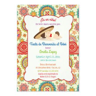 Little Boy Spanish Mexican Sombrero Baby Shower 13 Cm X 18 Cm Invitation Card
