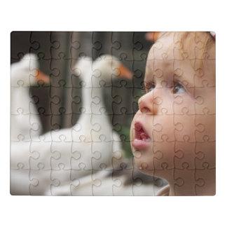 Little boy with big eyes on the farm jigsaw puzzle