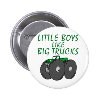 Little Boys Like Big Trucks 6 Cm Round Badge
