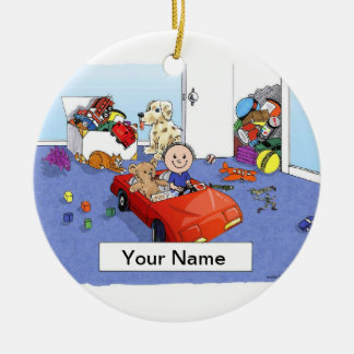 Little Boys Room Ceramic Ornament