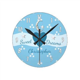 Little Boy's Stars & Moon Clock
