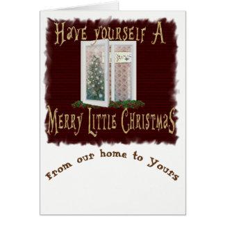 Little Brick House-christmas window Card