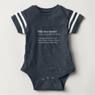 little bro definition custom text baby grow baby bodysuit