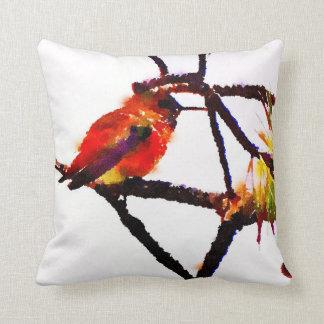 Little Bronze, gold, green, purple hummingbird Cushion