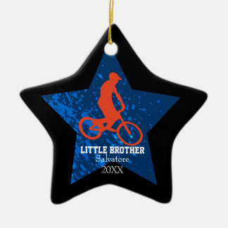 Little Brother/ Big Brother Bike Jumping Ornament