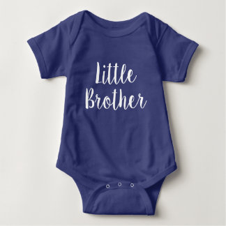 Little brother blue baby bodysuit gift for boy