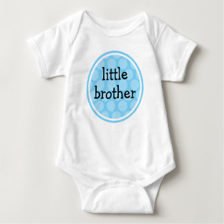 Little Brother Blue Polka Dot Circle Baby Bodysuit