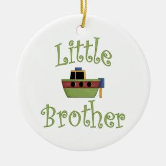 Little Brother Cute Boat Ceramic Ornament