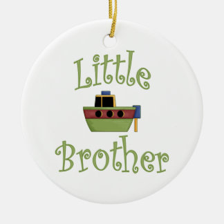 Little Brother Cute Boat Round Ceramic Decoration