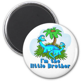 Little Brother Dinosaurs Fridge Magnet