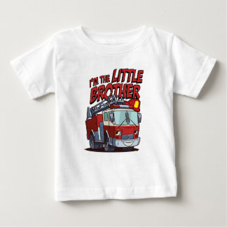 Little Brother Fire Truck Baby T-Shirt