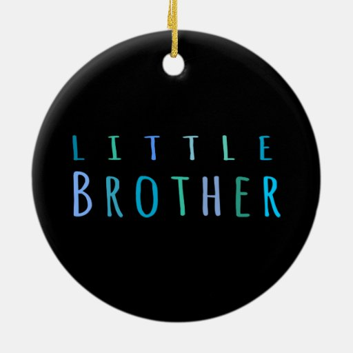 Little Brother in blue Christmas Tree Ornaments