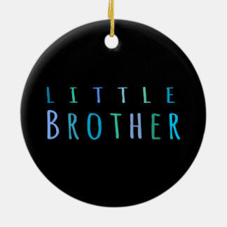 Little Brother in blue Round Ceramic Decoration