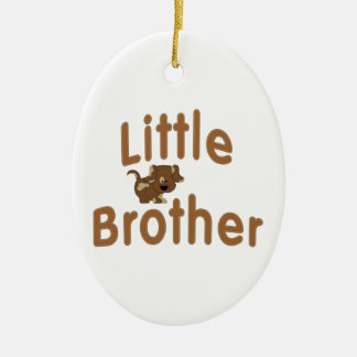 Little Brother Spotted Puppy Ceramic Oval Decoration