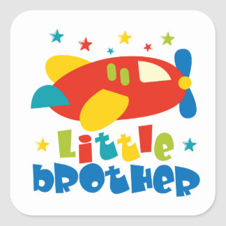 Little Brother Stars Plane Square Sticker