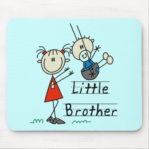 Little Brother with Big Sister Tshirts Mouse Pad