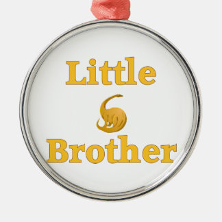 Little Brother Yellow Dinosaur Silver-Colored Round Decoration