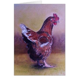 Little Brown hen Card