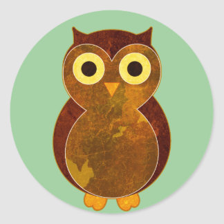 Little Brown Owl Classic Round Sticker