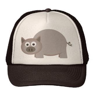 Little Brown Pig Trucker Hats