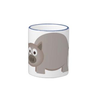 Little Brown Pig Coffee Mug