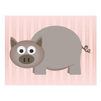 Little Brown Pig Postcard