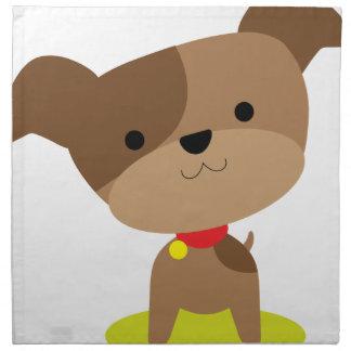 little brown pup napkin