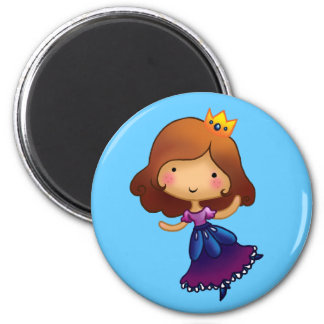 Little Brunette Princess Magnet