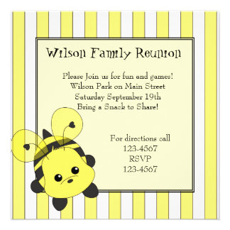 Little Bubmble Bee Cutie Custom Announcements