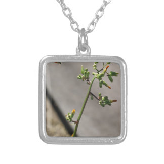 Little Bug, Little Flower Silver Plated Necklace