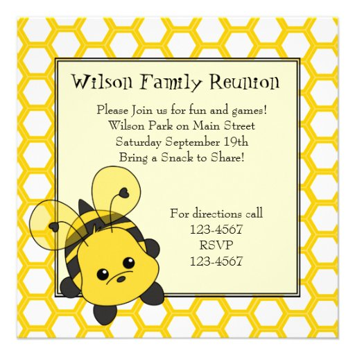 Little Bumble Bee Cutie Personalized Invitation
