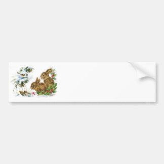 Little Bunnies Christmas Bumper Sticker