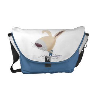Little Bunny In Blue Pants Bags Messenger Bag