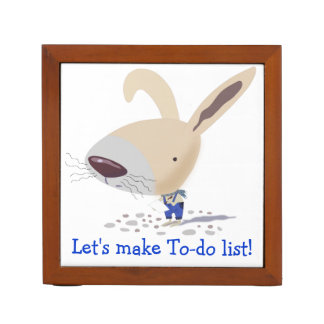 Little Bunny In Blue Pants Custom Desk Organizer Pencil Holder