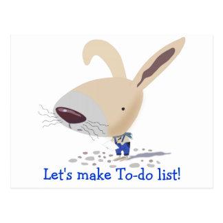 Little Bunny In Blue Pants Custom Postcard
