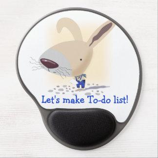 Little Bunny In Blue Pants Is Writing Gel Mousepad