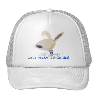 Little Bunny In Blue Pants Is Writing Hat
